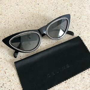 Celine cat eye sunglasses with crystals